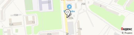 Политроник на карте Коммунара