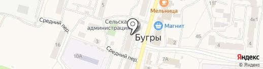 Администрация сельского поселения Бугровское на карте Бугров