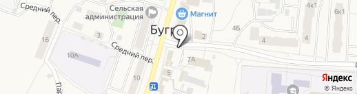 Киоск по продаже цветов на карте Бугров