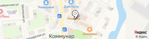 Платежный терминал, Петербургский социальный коммерческий банк на карте Коммунара