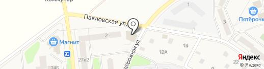 Март на карте Коммунара