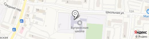 Бугровская средняя образовательная школа на карте Бугров