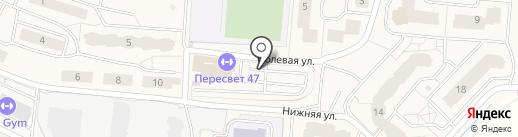Автостоянка на Школьной на карте Бугров