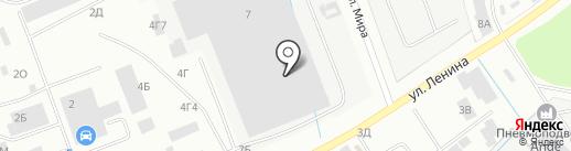 Скания-Питер на карте Санкт-Петербурга