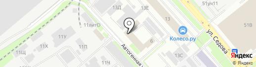 ПромЭнергоСтрой, ЗАО на карте Санкт-Петербурга