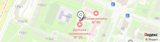 Детская поликлиника №29 на карте Санкт-Петербурга