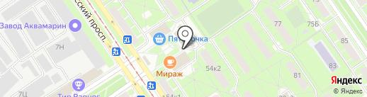 Улыбка радуги на карте Санкт-Петербурга