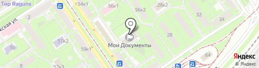 Многофункциональный центр предоставления государственных услуг Красногвардейского района на карте Санкт-Петербурга