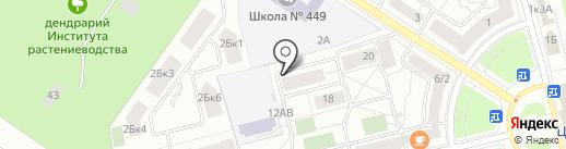 Пушкинец на карте Санкт-Петербурга