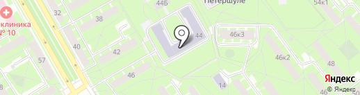 Школа-интернат для слепых и слабовидящих детей №1 им. К.К. Грота на карте Санкт-Петербурга