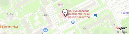 Консультативно-диагностический центр для детей, ГБУЗ на карте Санкт-Петербурга
