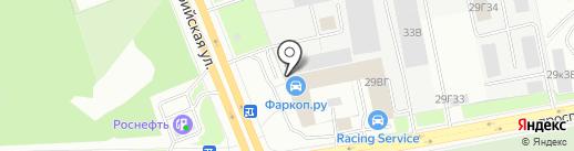 МС-АВТО на карте Санкт-Петербурга