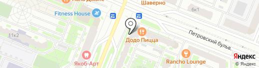 Домашний на карте Мурино