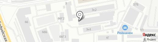 Атлас Копко на карте Санкт-Петербурга