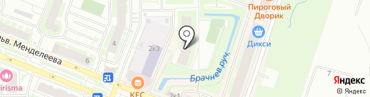 Ручеёк на карте Мурино