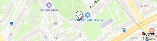Народная на карте Санкт-Петербурга