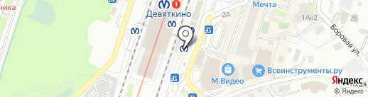 Магазин по продаже печатной продукции на Привокзальной площади на карте Мурино