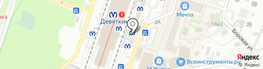 Магазин женской одежды на Привокзальной площади на карте Мурино