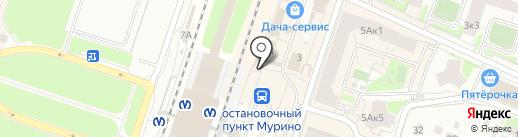 Магазин печатной продукции и игрушек на карте Мурино
