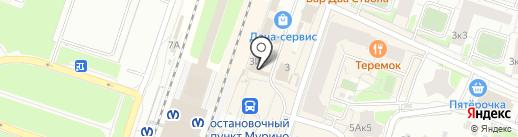 Магазин белорусских продуктов на карте Мурино