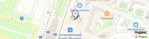 Магазин одежды и обуви на карте Мурино