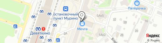 Олимп на карте Мурино