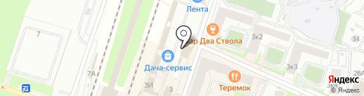 Магазин мяса на карте Мурино