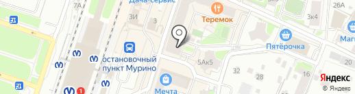 Магазин цветов на карте Мурино