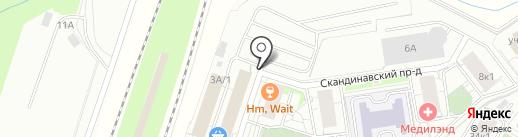 Автостоянка на Привокзальной площади (Всеволожский район) на карте Мурино
