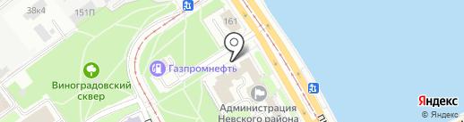 Администрация Невского района на карте Санкт-Петербурга