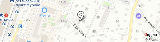 Двери Белоруссии на карте Мурино