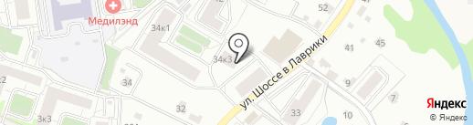 Магазин сантехники на карте Мурино