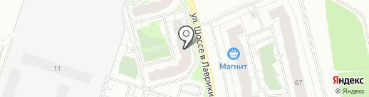 Магазин тканей и штор на карте Мурино