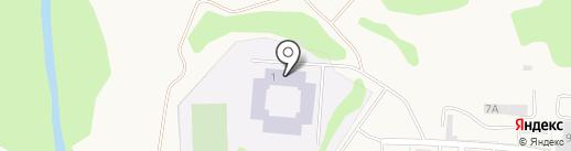 Ново-Девяткинская средняя общеобразовательная №1 на карте Нового Девяткино