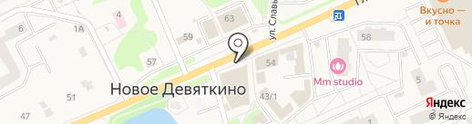 Кондитерская фабрика им. Н.К. Крупской на карте Нового Девяткино
