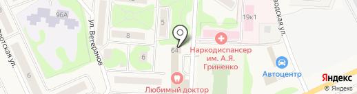 Футболика на карте Нового Девяткино