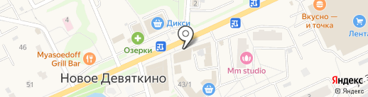 Цветовик на карте Нового Девяткино