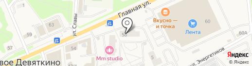 Qiwi на карте Нового Девяткино