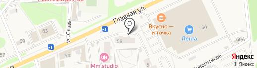 Магазин фруктов и овощей на карте Нового Девяткино