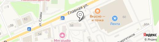 Магазин светильников и часов на карте Нового Девяткино