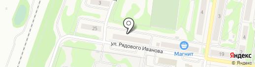 Девятка на карте Кузьмоловского