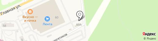 Автокомплекс на карте Нового Девяткино