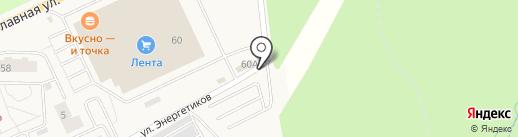 Автостоянка на карте Нового Девяткино