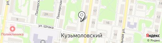Магазин игрушек на Молодёжной на карте Кузьмоловского