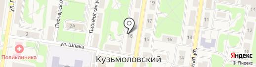 Магазин игрушек на карте Кузьмоловского