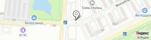 Автостоянка на Центральной на карте Кудрово