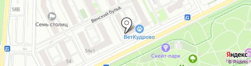 РосАл на карте Кудрово
