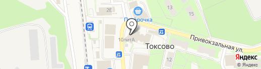 Людмила на карте Токсово