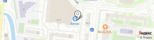 Велес на карте Кудрово