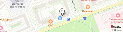 Супермаркет на карте Кудрово
